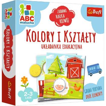 Trefl - ABC Malucha - Gra edukacyjna - Kolory i kształty- 01939