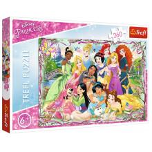 Trefl - Puzzle 260 el. Disney - Spotkanie księżniczek - 13242