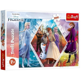 Trefl - Puzzle 200 el. - Kraina Lodu Frozen 2 - Siostry w Krainie Lodu - 13249