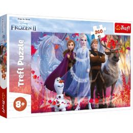 Trefl - Puzzle 260 elementów - Frozen II W poszukiwaniu przygód - 13250