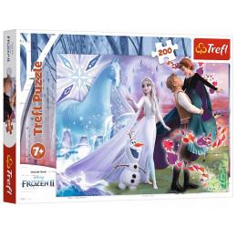 Trefl - Puzzle 200 el. Kraina Lodu 2 - Magiczny świat sióstr - 13265