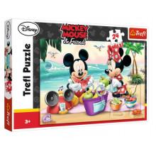 Trefl - Puzzle Maxi 24el - Myszka Mickey - Piknik na plaży 14236