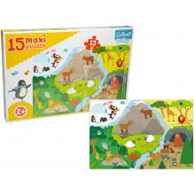 Trefl - Puzzle Maxi Baby - Zwierzęta i ich domy - 14280