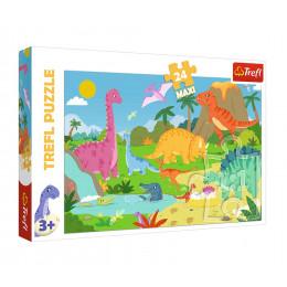 Trefl - Puzzle Maxi - W świecie dinozaurów 24 el. - 14284