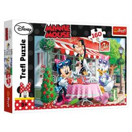 Trefl - Puzzle 160 el. Myszka Minnie - W kawiarni - 15298