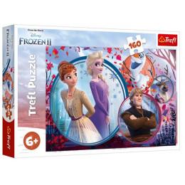 Trefl - Puzzle 160 el. - Kraina Lodu Frozen 2 - Siostrzana przygoda - 15374