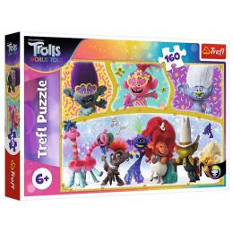 Trefl - Puzzle 160 el. - Wesoły świat Troli - 15396