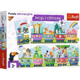 Trefl - Puzzle edukacyjne - Pociąg z cyferkami - 15561