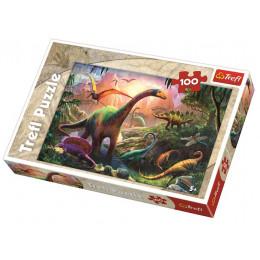 Trefl - Puzzle 100 el. - Świat dinozaurów - 16277