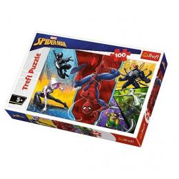 Trefl - Puzzle Spiderman - Do góry nogami 100 el. - 16347