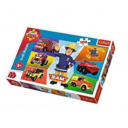 Trefl - Puzzle Pojazdy Strażaka Sama 100 el. - 16354