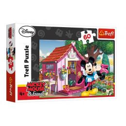 Trefl - Puzzle 60 el. - Miki i Minnie w ogrodzie - 17285