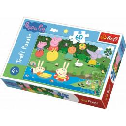 Trefl - Puzzle 60el. - Wakacyjna zabawa Peppy - 17326