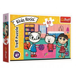 Trefl - Puzzle 60 el. - Kicia Kocia z przyjaciółmi - 17343
