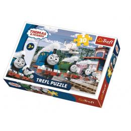 Trefl - Puzzle 30 el. Tomek i Przyjaciele - Wyścig na torach - 18230