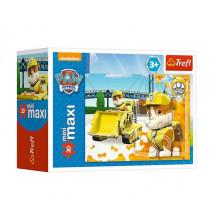 Trefl - Puzzle Mini Maxi Psi Patrol 20 el. - Rubble - 21069