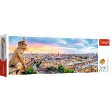 Trefl - Puzzle Panorama 1000 el - Widok z katedry Notre-Dame - 29029