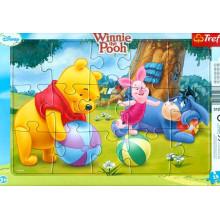 Trefl - Puzzle w ramce 15 el. - Kubuś Puchatek - 31268