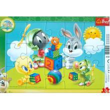 Trefl - Puzzle w ramce 15 el. - Looney Tunes - 31270