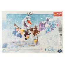 Trefl - Puzzle w ramce 30 el. - Kraina Lodu Frozen - Przygody Olafa - 31275
