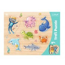 Trefl – Puzzle ramkowe 7 elementów – Podwodny świat – 31309