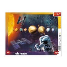 Trefl – Puzzle ramkowe 25 elementów – Układ słoneczny – 31342