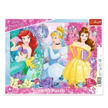 Trefl – Puzzle ramkowe 25 elementów – Magiczne księżniczki Disneya – 31360