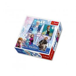 Trefl - Puzzle 4w1 - Frozen Kraina Lodu - 34210