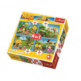Trefl - Puzzle 4w1 Pszczółka Maja - 34320