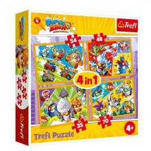 Trefl - Puzzle 4w1 - Super Zings - 34343