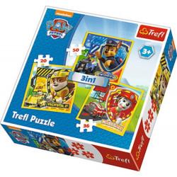 Trefl - Puzzle - Psi Patrol - 3w1 - 34839