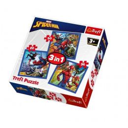 Trefl - Puzzle 3w1 Spiderman - Pajęcza siła - 34841