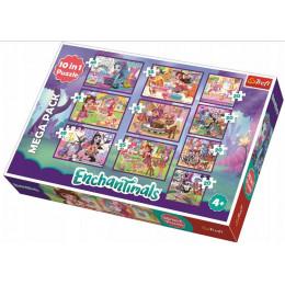 Trefl - Puzzle 10w1 - Przygody Enchantimals - 90354