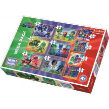 Trefl - Puzzle 10w1 - Dzielni Pidżamersi - 90357