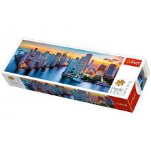 Trefl 29027 Puzzle Panorama 1000el Miami o zmroku