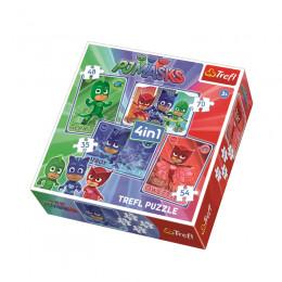 Trefl 34291 Puzzle 4w1 Kotboy i drużyna