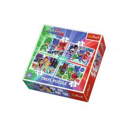 Trefl 34299 Puzzle 4w1 Drużyna Pidżamersów