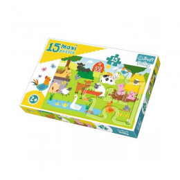 Trefl Baby - Puzzle Maxi - Zwierzęta na wsi - 15el. - 14275
