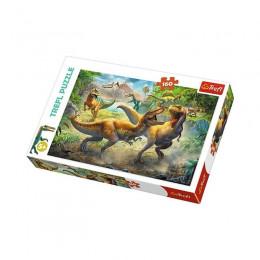 Trefl - Puzzle 160 el. - Walczące Tyranozaury - 15360
