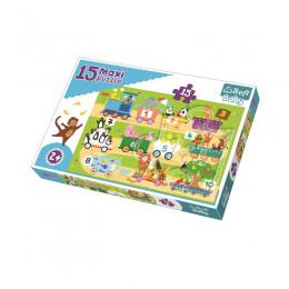 Trefl Baby - Puzzle Maxi - 15el. - Pociąg z cyferkami - 14278