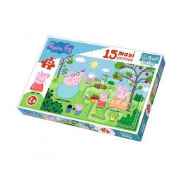 Trefl Baby - Puzzle Maxi - 15el. - Peppa w Ogrodzie - 14282