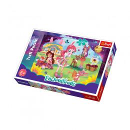 Trefl - Puzzle 160 el. - Enchantimals - W ogrodzie - 15361