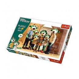 Trefl - Puzzle Maxi 24el. - Rodzina Treflików - Portret Rodziny - 14254