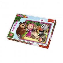 Trefl - Puzzle Maxi 24el. - Masza i Przyjaciele - 14301