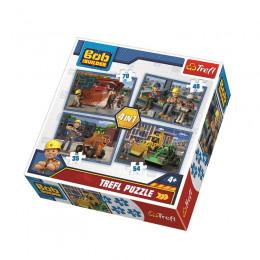 Trefl - Puzzle 4w1 - Bob Budowniczy - 34270