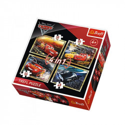 Trefl - Puzzle 4w1 - Auta Cars - 34276