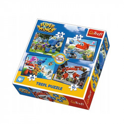 Trefl - Puzzle 4w1 - Super Wings - 34280