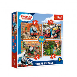Trefl - Puzzle 4w1 - Tomek i Przyjaciele - 34300