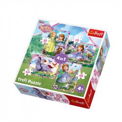 Trefl - Puzzle 4w1 - Jej Wysokość Zosia - W Świecie Księżniczek - 34314
