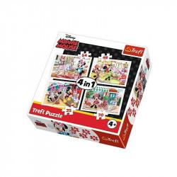 Trefl - Puzzle 4w1 - MInnie Mouse - Minnie z Przyjaciółmi - 34315